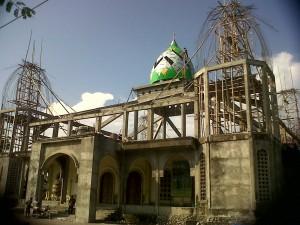 Progress Pembangunan Kubah Masjid Miftahul Jannah
