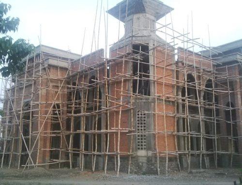 Progres Pembangunan Masjid Miftahul Jannah Januari 2016
